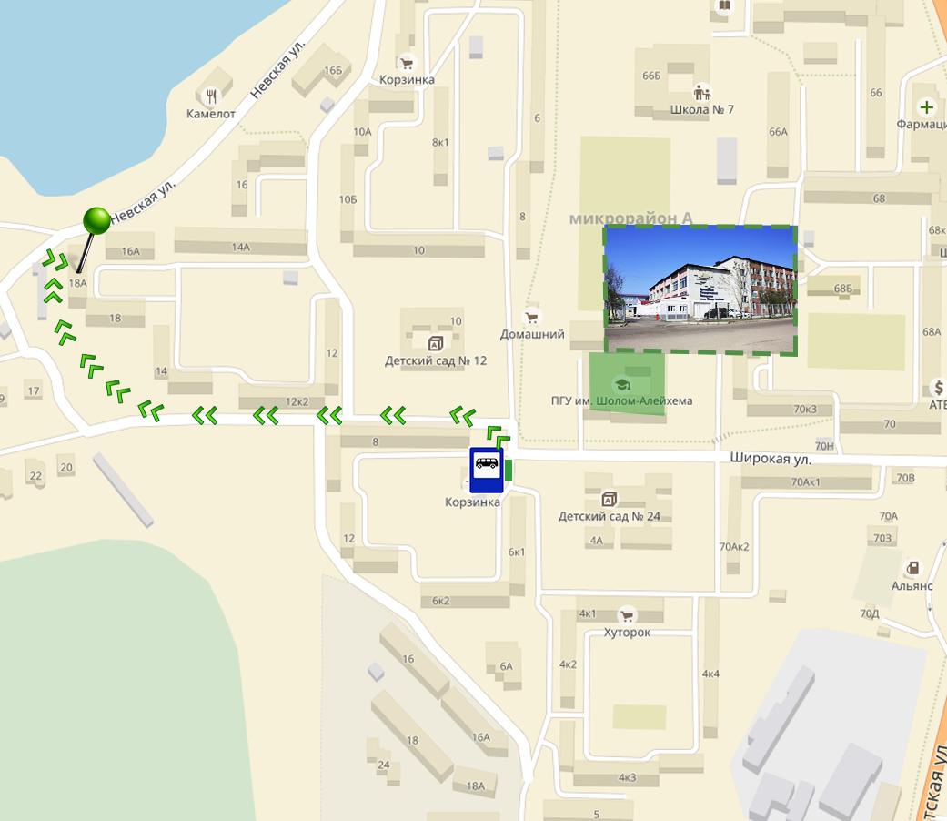карта пешком 1
